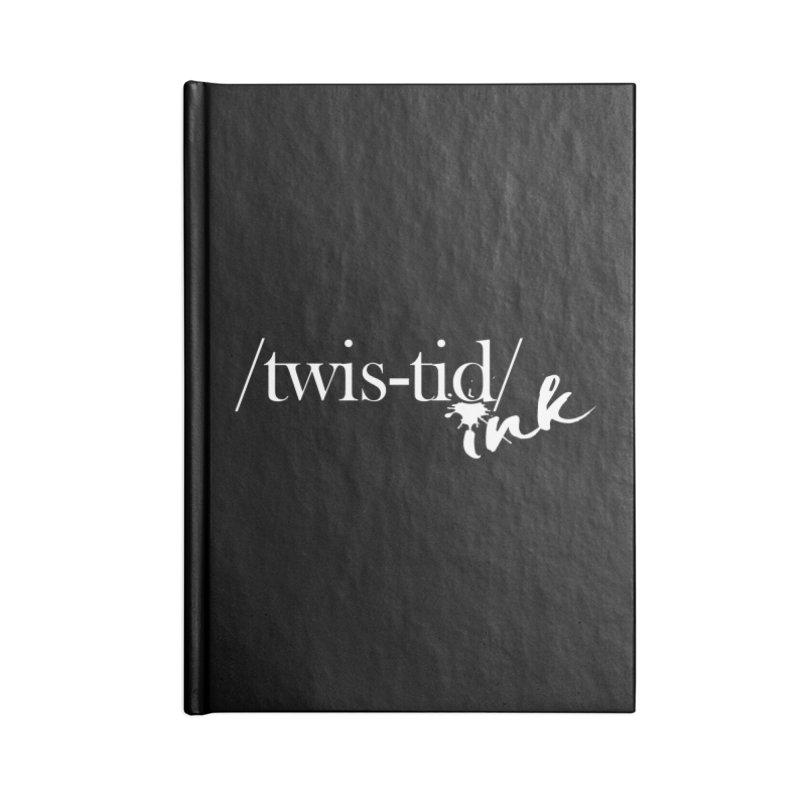 Twistid Ink White Accessories Notebook by Twistid ink's Artist Shop