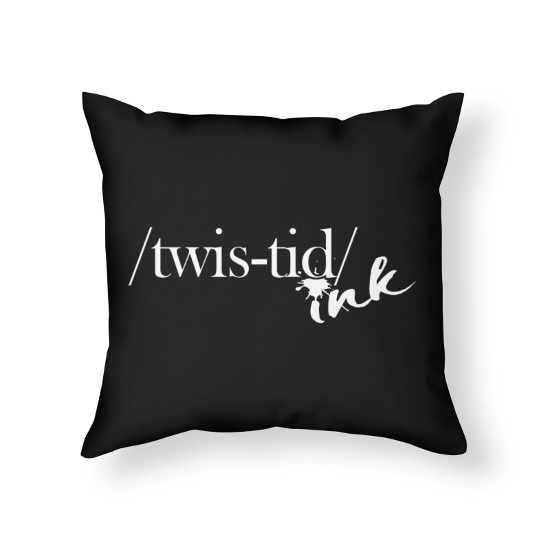 Twistid Ink White Home Throw Pillow by Twistid ink's Artist Shop