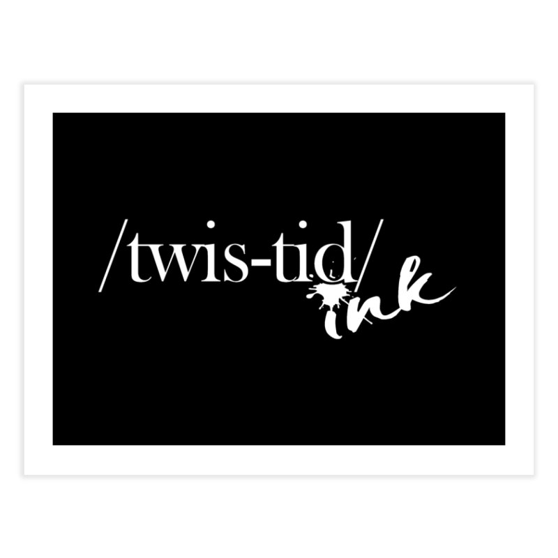 Twistid Ink White Home Fine Art Print by Twistid ink's Artist Shop
