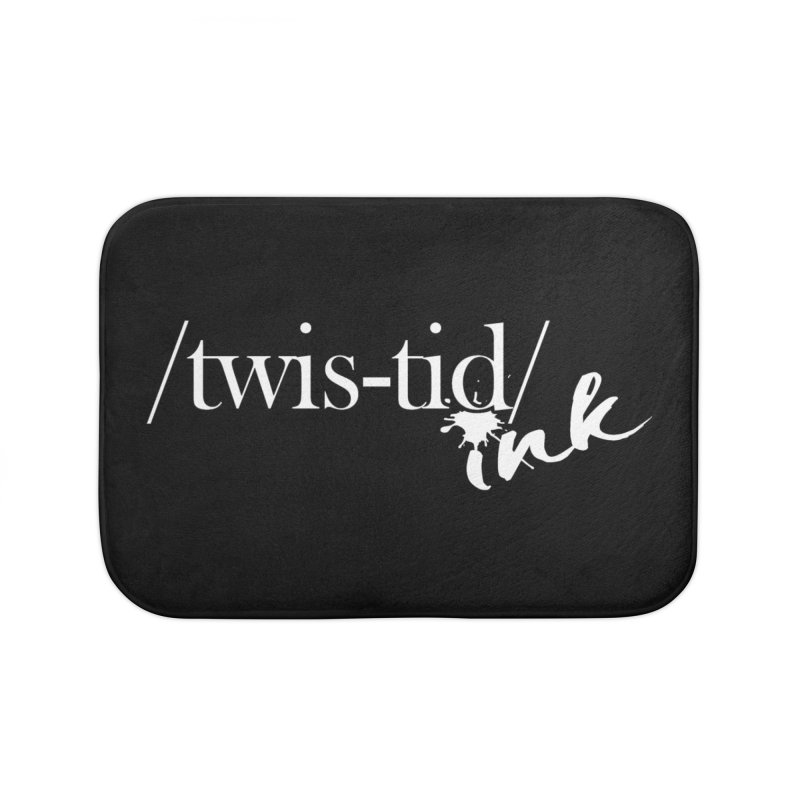 Twistid Ink White Home Bath Mat by Twistid ink's Artist Shop