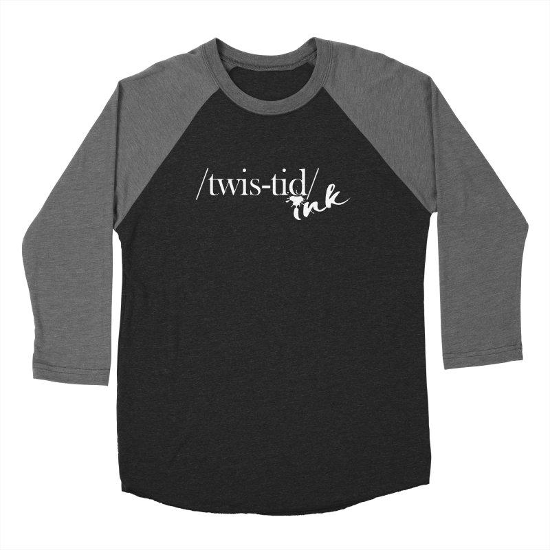 Twistid Ink White Men's Baseball Triblend Longsleeve T-Shirt by Twistid ink's Artist Shop