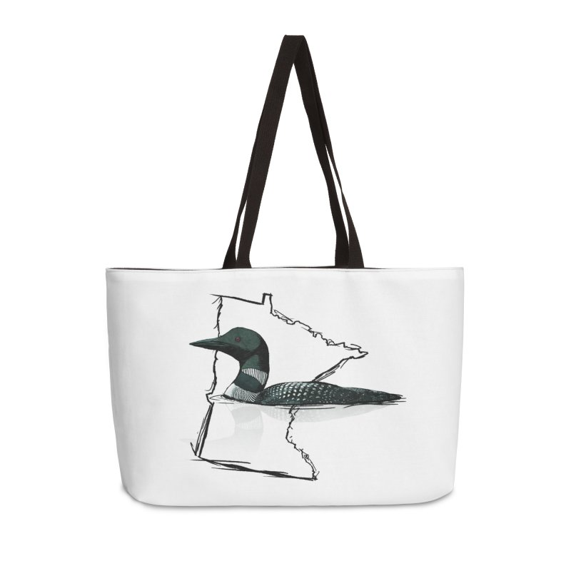 Common Loon MN Spirit in Weekender Bag by TyDyed Art