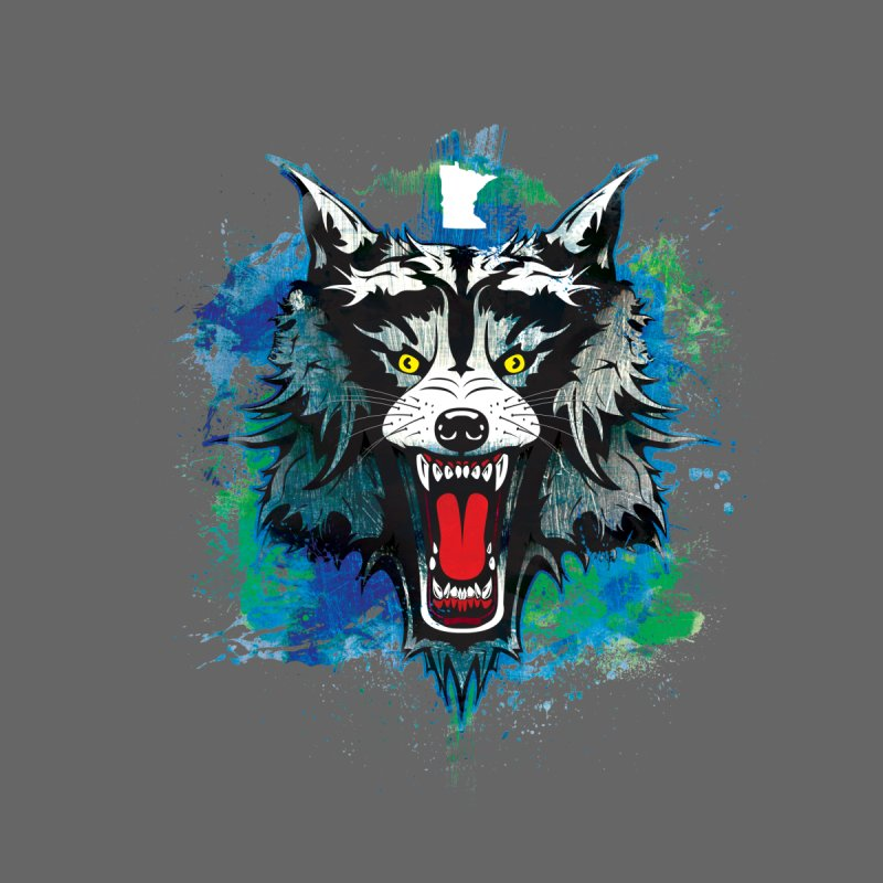 Minnesota Wolf by TyDyed Art