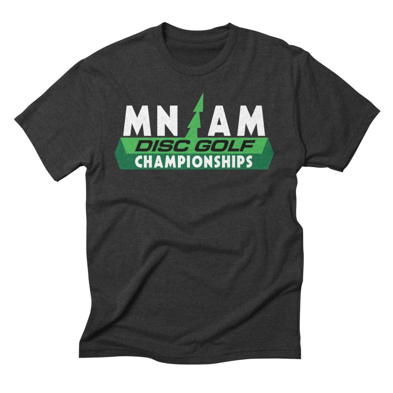 MN AM Disc Golf Championships - Full Color in Men's Triblend T-Shirt Heather Onyx by TyDyed Art