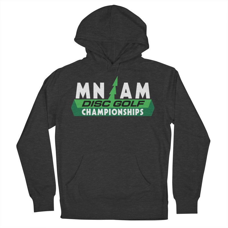 MN AM Disc Golf Championships - Full Color in Men's French Terry Pullover Hoody Smoke by TyDyed Art