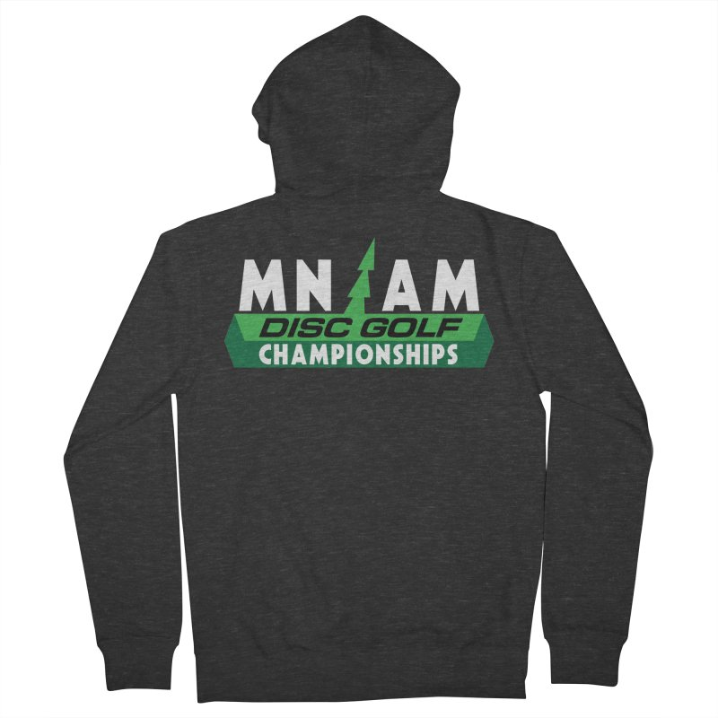 MN AM Disc Golf Championships - Full Color Men's French Terry Zip-Up Hoody by TyDyed Art