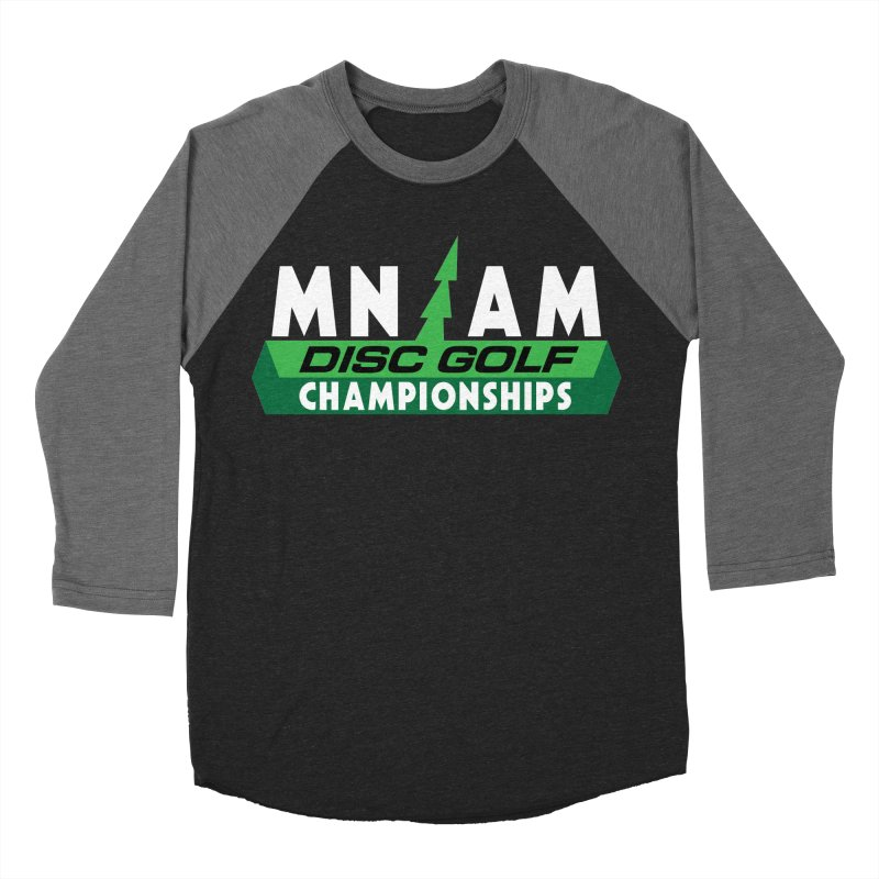 MN AM Disc Golf Championships - Full Color in Men's Baseball Triblend Longsleeve T-Shirt Grey Triblend Sleeves by TyDyed Art