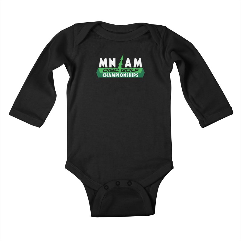 MN AM Disc Golf Championships - Full Color Kids Baby Longsleeve Bodysuit by TyDyed Art