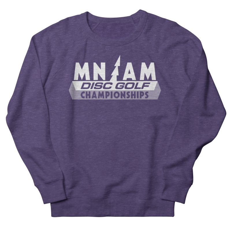 MN AMS Disc Golf Championships - White Men's French Terry Sweatshirt by TyDyed Art