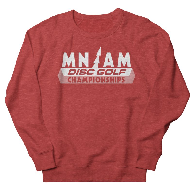 MN AMS Disc Golf Championships - White in Men's French Terry Sweatshirt Heather Red by TyDyed Art