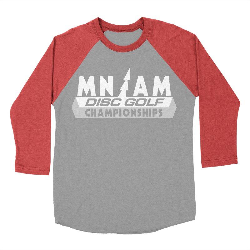 MN AMS Disc Golf Championships - White Men's Baseball Triblend Longsleeve T-Shirt by TyDyed Art
