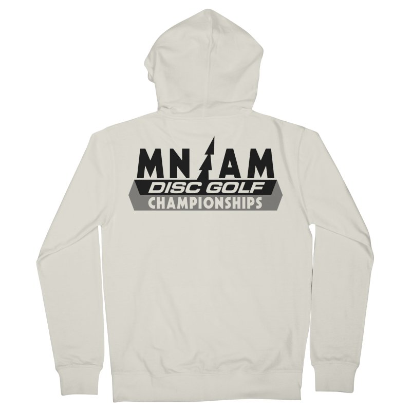 MN AMS Disc Golf Championships - Black Men's French Terry Zip-Up Hoody by TyDyed Art