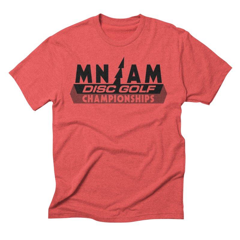 MN AMS Disc Golf Championships - Black Men's Triblend T-Shirt by TyDyed Art