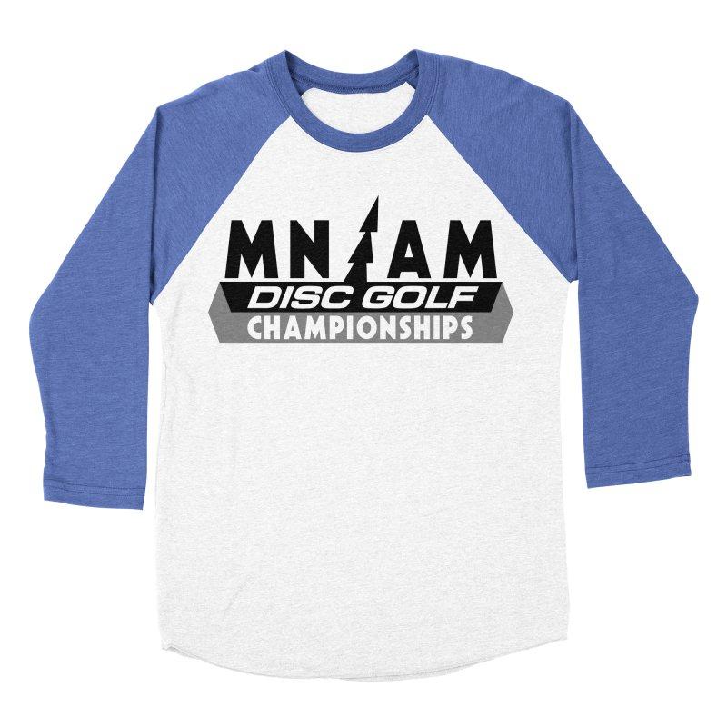 MN AMS Disc Golf Championships - Black Men's Baseball Triblend Longsleeve T-Shirt by TyDyed Art