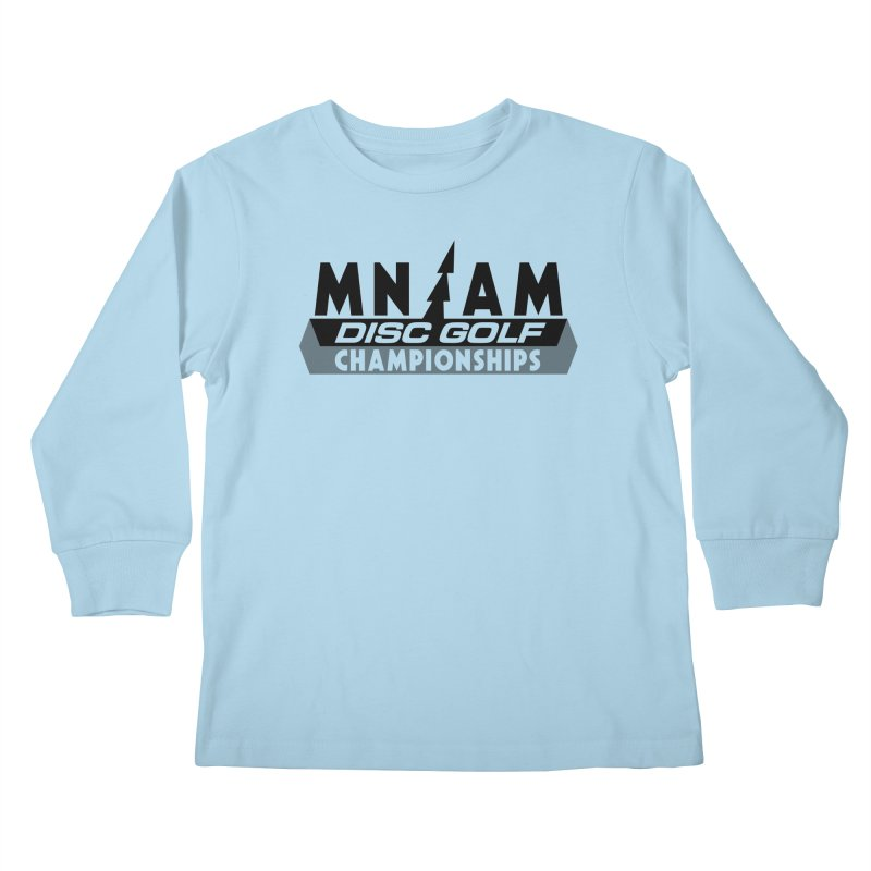MN AMS Disc Golf Championships - Black Kids Longsleeve T-Shirt by TyDyed Art