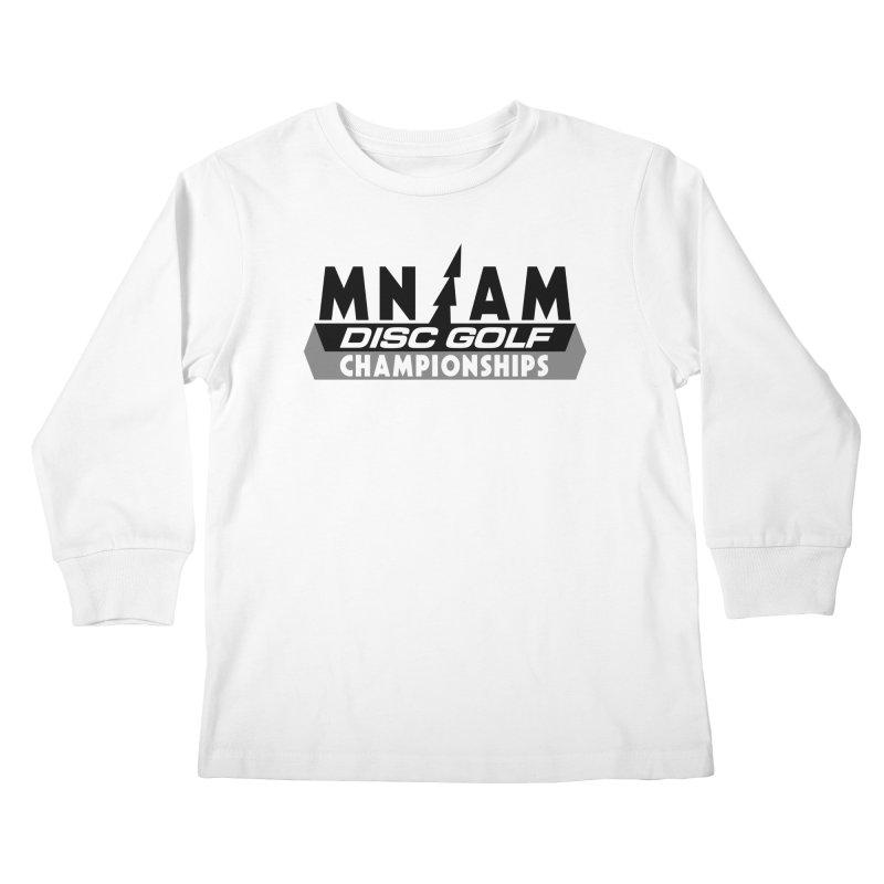 MN AMS Disc Golf Championships - Black Kids Longsleeve T-Shirt by TyDyed Art