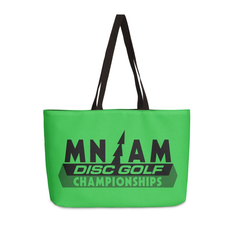MN AMS Disc Golf Championships - Black in Weekender Bag by TyDyed Art