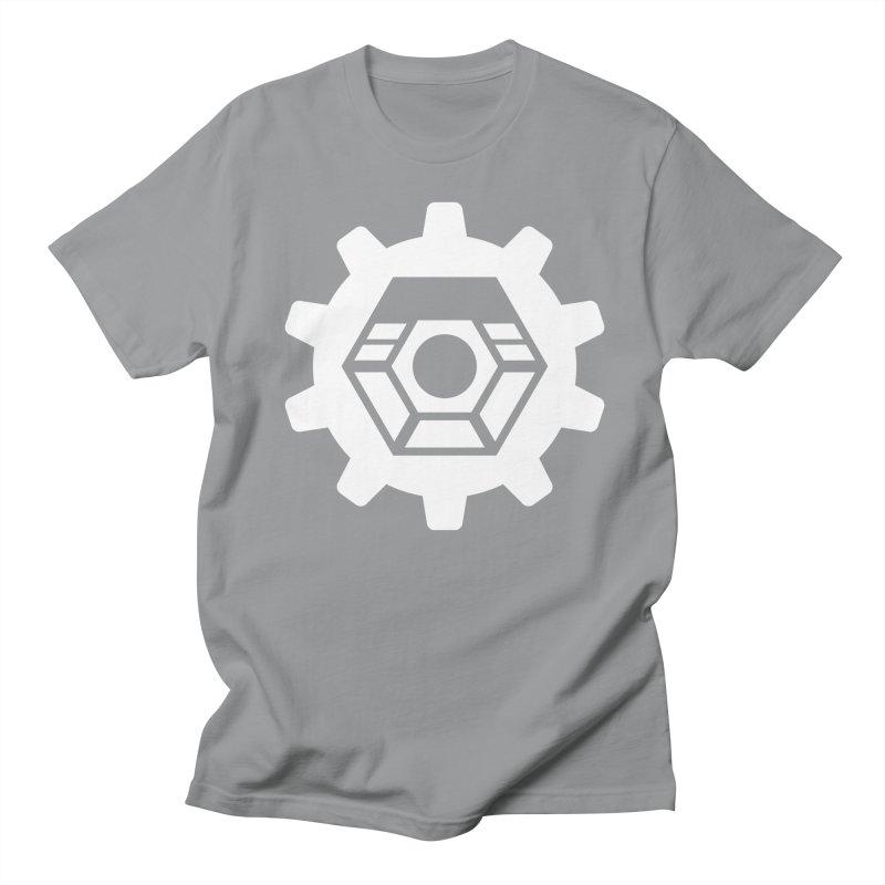 Tyler McNair Art and Design Logo (white) Men's Regular T-Shirt by TyDyed Art