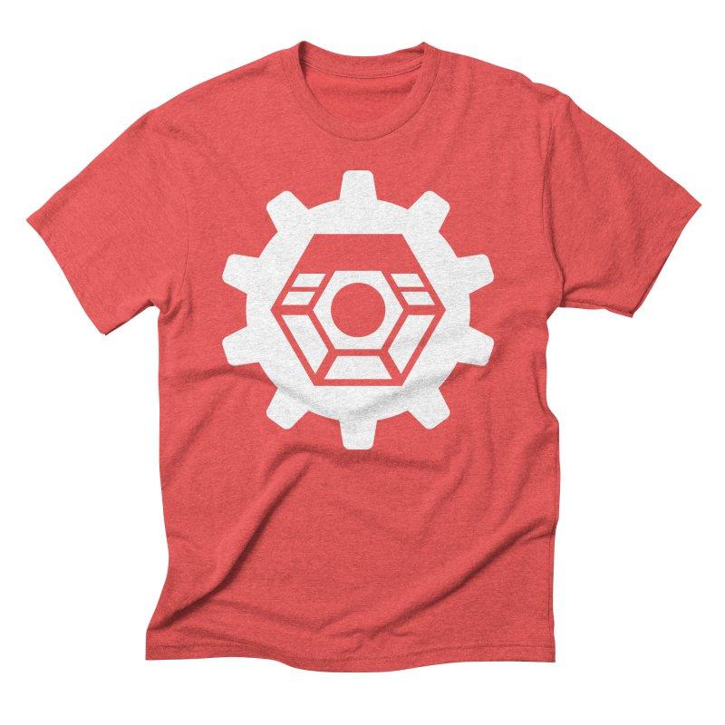Tyler McNair Art and Design Logo (white) Men's Triblend T-Shirt by TyDyed Art