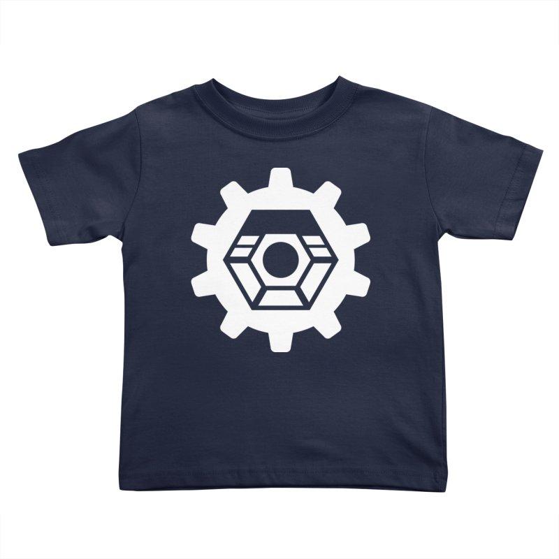 Tyler McNair Art and Design Logo (white) Kids Toddler T-Shirt by TyDyed Art