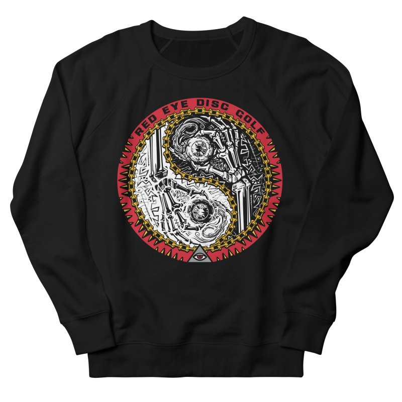 Red Eye Disc Golf Skeleton Yin Yang (color 1) Men's French Terry Sweatshirt by TyDyed Art