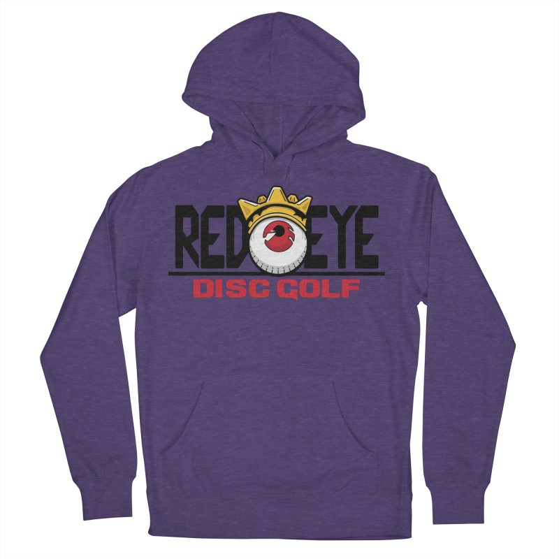 Red Eye Disc Golf Logo Women's French Terry Pullover Hoody by TyDyed Art