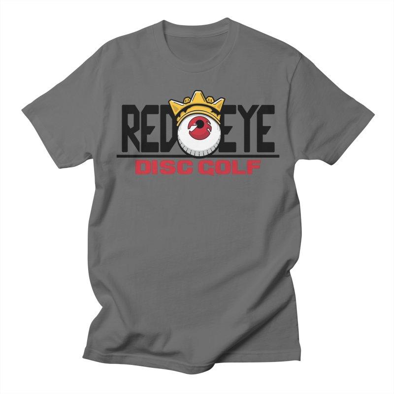 Red Eye Disc Golf Logo Men's Regular T-Shirt by TyDyed Art