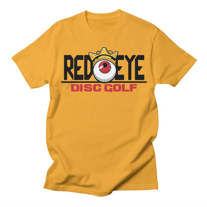 Red Eye Disc Golf Logo Men's Regular T-Shirt by TyDyed Art