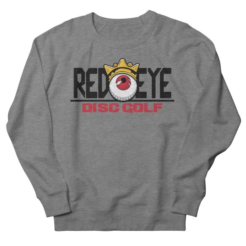 Red Eye Disc Golf Logo Men's French Terry Sweatshirt by TyDyed Art
