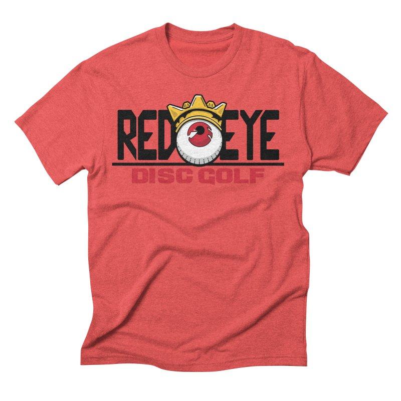 Red Eye Disc Golf Logo Men's Triblend T-Shirt by TyDyed Art