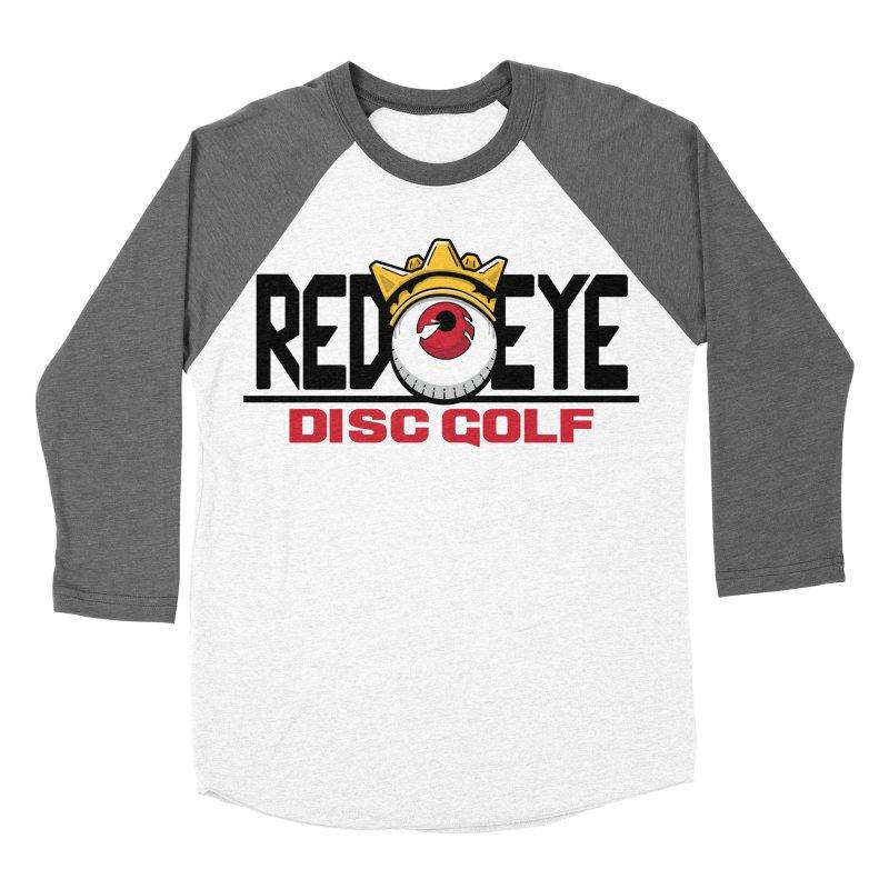 Red Eye Disc Golf Logo Men's Baseball Triblend Longsleeve T-Shirt by TyDyed Art
