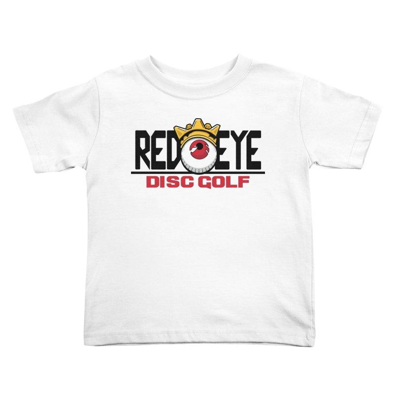 Red Eye Disc Golf Logo Kids Toddler T-Shirt by TyDyed Art