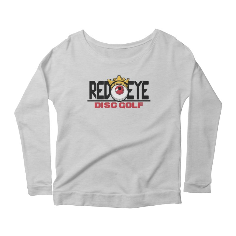 Red Eye Disc Golf Logo Women's Scoop Neck Longsleeve T-Shirt by TyDyed Art