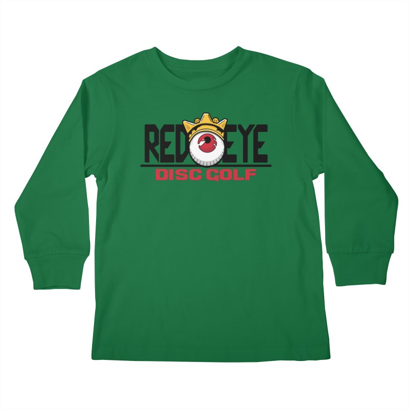 Red Eye Disc Golf Logo Kids Longsleeve T-Shirt by TyDyed Art