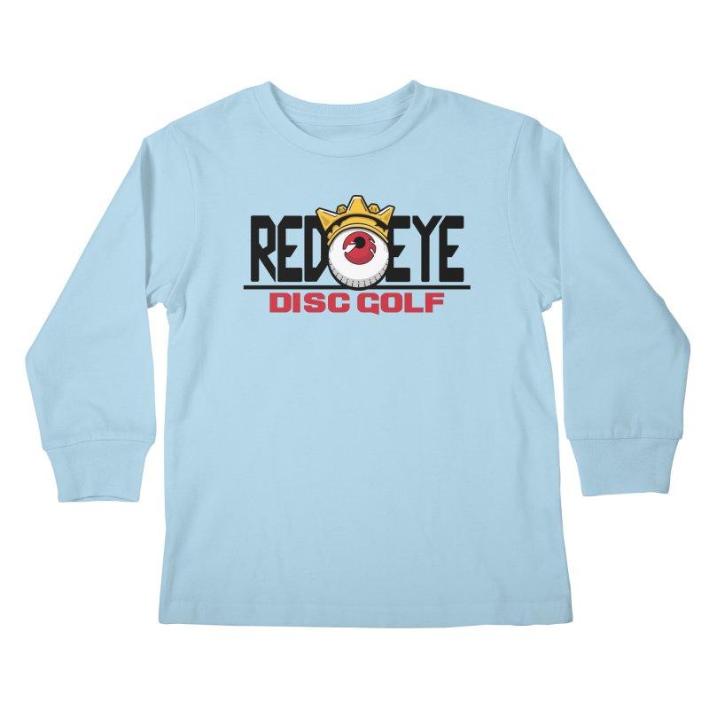 Red Eye Disc Golf Logo Kids Longsleeve T-Shirt by TyDyed Art