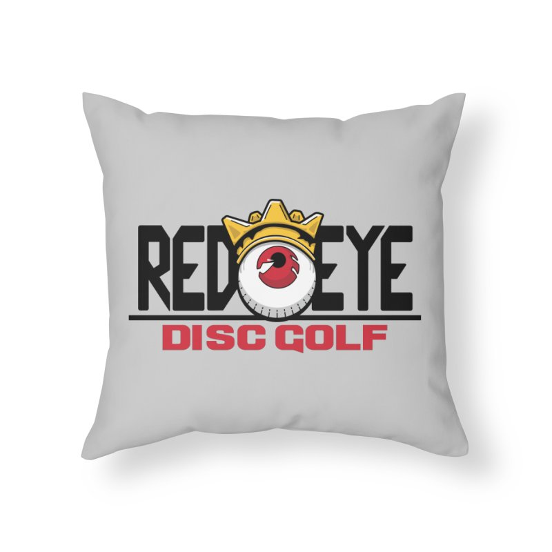 Red Eye Disc Golf Logo Home Throw Pillow by TyDyed Art