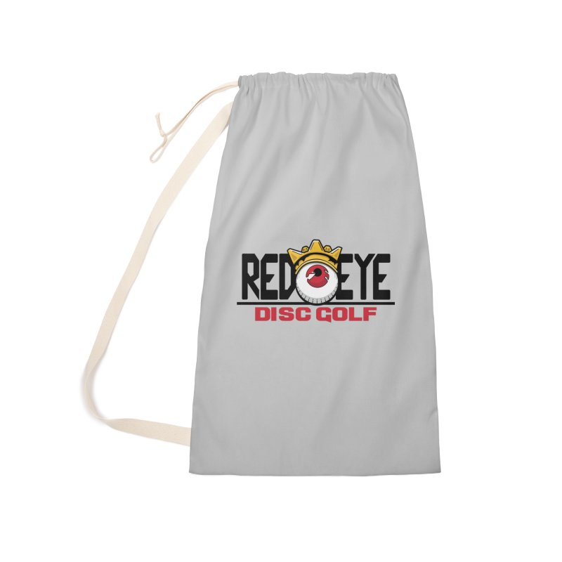 Red Eye Disc Golf Logo Accessories Laundry Bag Bag by TyDyed Art