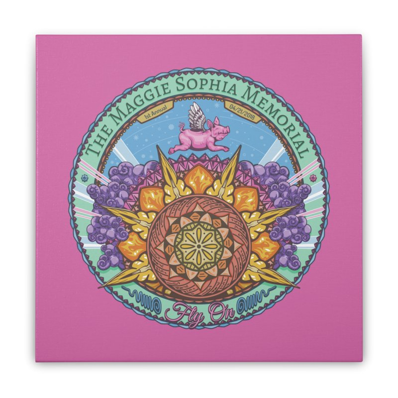 The Maggie Sophia Memorial 2018 (Pink Background) Home Stretched Canvas by TyDyed Art