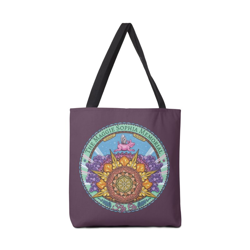 The Maggie Sophia Memorial 2018 (Plum Background) Accessories Tote Bag Bag by TyDyed Art
