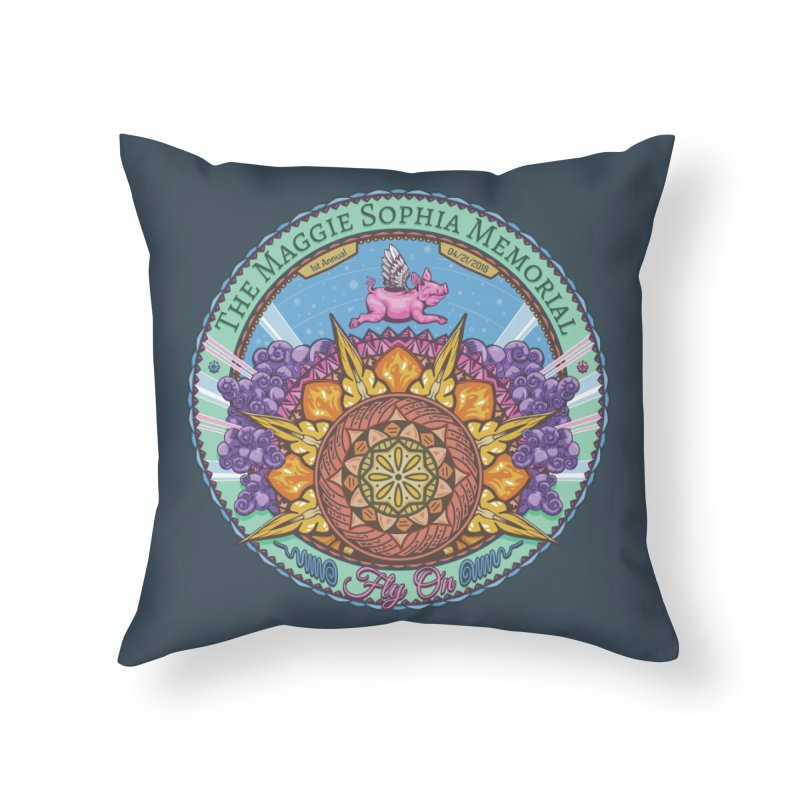 The Maggie Sophia Memorial 2018 (Grey Background) Home Throw Pillow by TyDyed Art