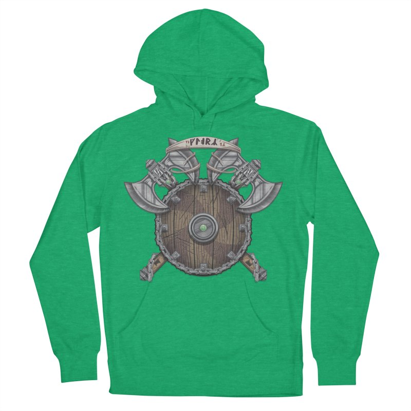 Viking Shield Women's French Terry Pullover Hoody by TyDyed Art