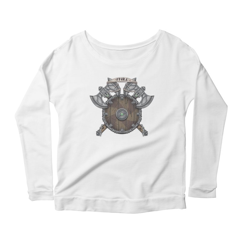 Viking Shield Women's Scoop Neck Longsleeve T-Shirt by TyDyed Art