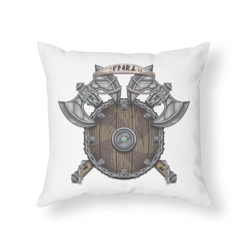 Viking Shield Home Throw Pillow by TyDyed Art