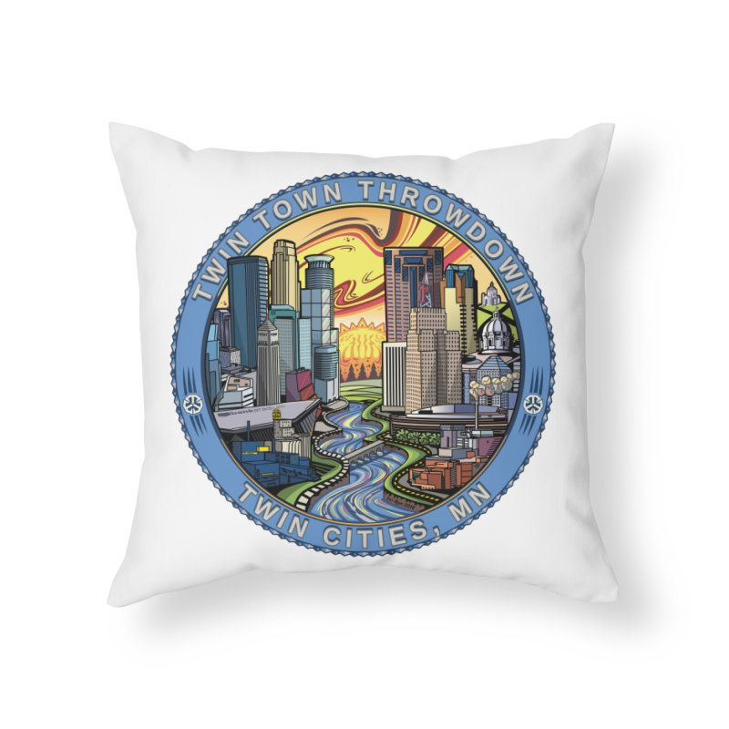 Twin Town Throwdown 2018 Home Throw Pillow by TyDyed Art