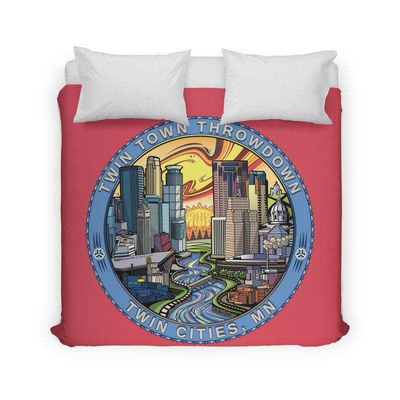 Twin Town Throwdown 2018 (Pink) Home Duvet by TyDyed Art