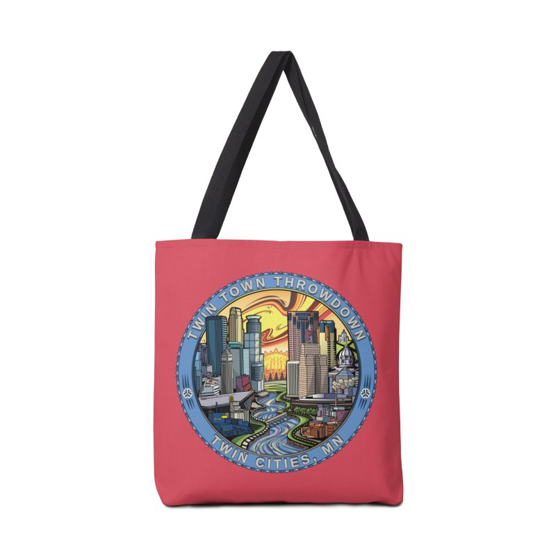 Twin Town Throwdown 2018 (Pink) Accessories Tote Bag Bag by TyDyed Art
