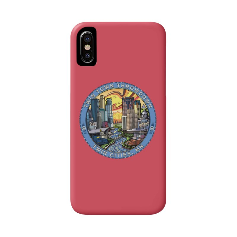 Twin Town Throwdown 2018 (Pink) Accessories Phone Case by TyDyed Art