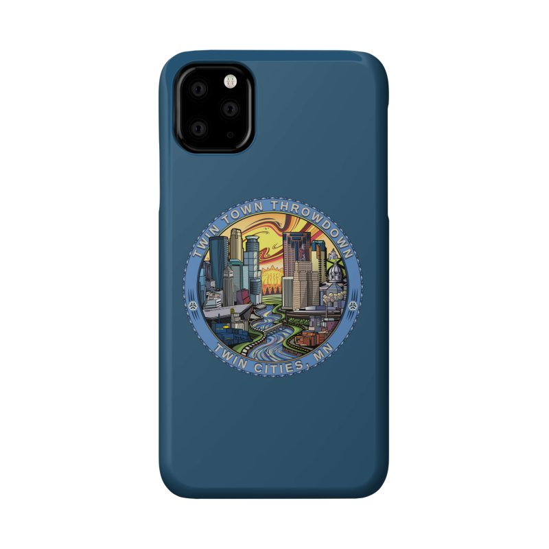 Twin Town Throwdown 2018 (Blue) Accessories Phone Case by TyDyed Art