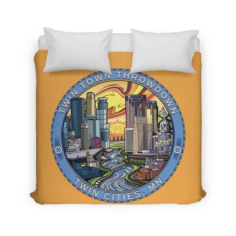 Twin Town Throwdown 2018 (Gold) Home Duvet by TyDyed Art