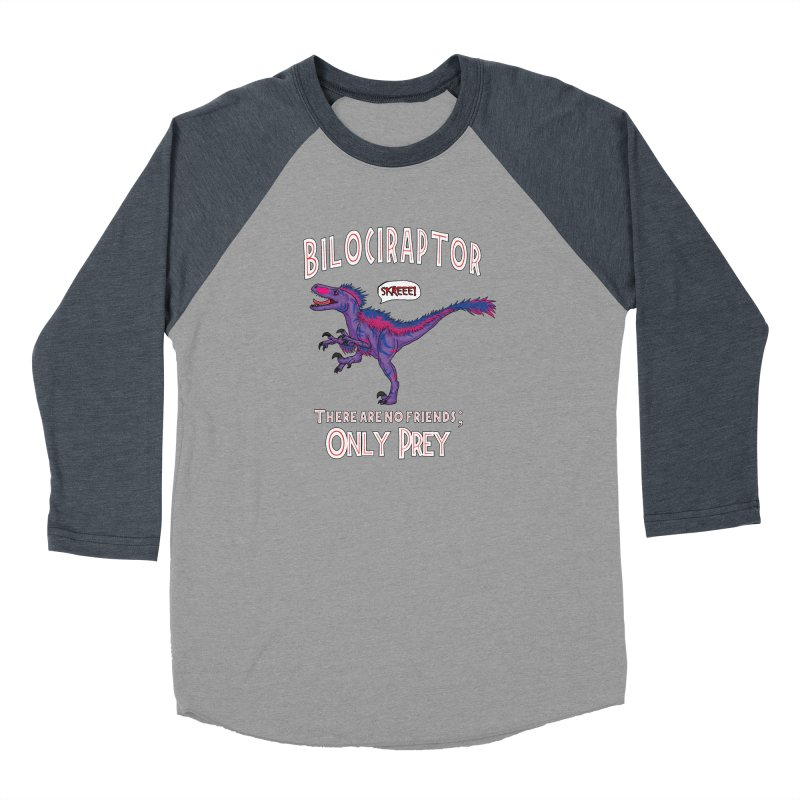 Bilociraptor - Bisexual Pride Women's Baseball Triblend Longsleeve T-Shirt by TygerwolfeDesigns's Artist Shop